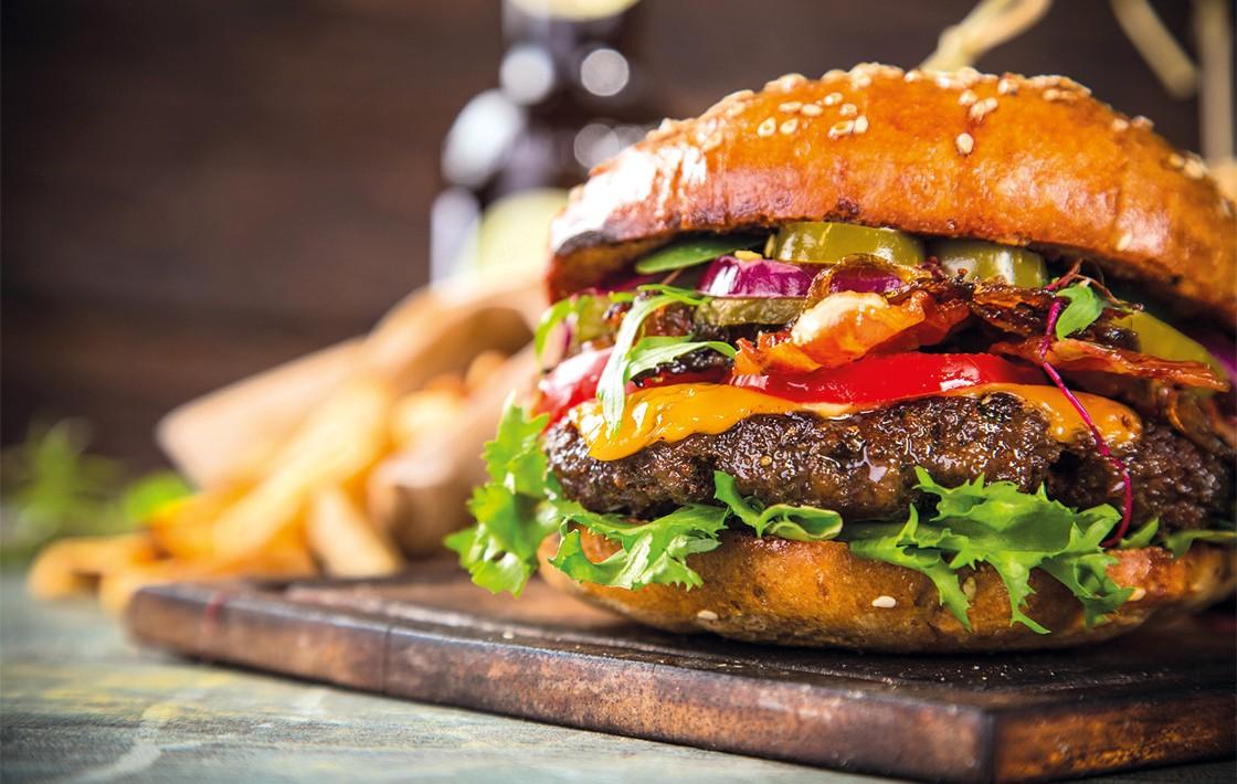 Gegrillter Hamburger